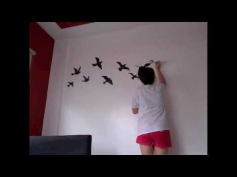 Time Lapse Painting - Birds Silhouette