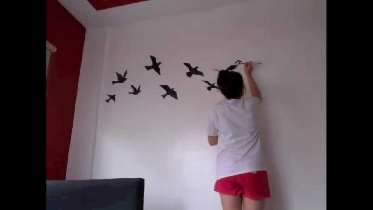 Time lapse painting birds silhouette youtube amipublicfo Images
