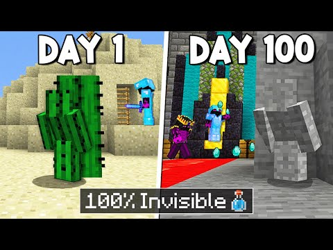 I Survived 100 Days Inside a Hidden Minecraft Base... - OhTekkers