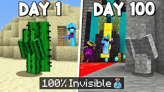 I Survived 100 Days Inside a Hidden Minecraft Base...
