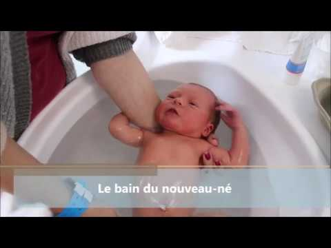 Le bain du nouveau-né à Santé Atlantique