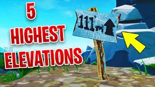 """Visit the 5 Highest Elevations on the Island"" - ALL LOCATIONS - Fortnite Week 6 Challenges"