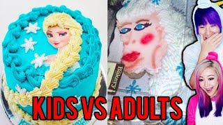 Kids Cooking Vs Adults Cooking! Who Does It Better?