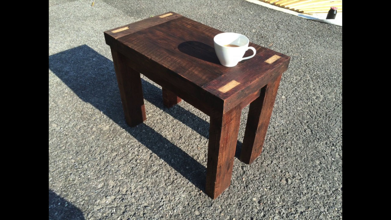e32f67dd651 Mortise and Tenon Reclaimed Wood Table - YouTube