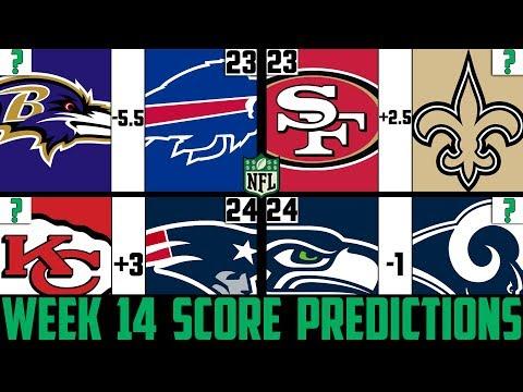 NFL Week 14 Score Predictions 2019 (NFL WEEK 14 PICKS AGAINST THE SPREAD 2019)