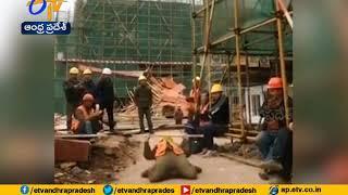 Hyderabad Metro Train Construction Worker Showing His Dance Performance   in Lunch Break