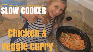 Easy Slow Cooker Recipe: Chicken & Vegetable Coconut Curry