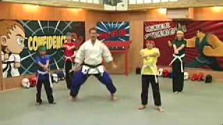 Karate Kids Horse Stance and Punching Lesson