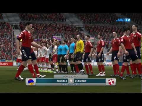 Armenia Vs. Denmark | Road To World Cup Japan 2012 | FIFA 12