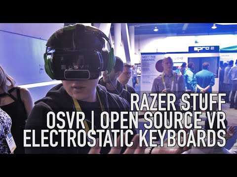 Razer Open Source VR & Electrostatic Keyboards | CES2015
