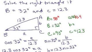 Solve Right Triangles 3