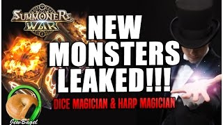 summoners war new monsters leaked dice magician harp magician