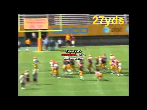 2010 BOBBY WENZIG #43 - Arizona State Football - FIELD GOAL COMPETITION, PUNTING   KICKOFFS2.flv