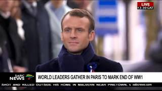 World leaders gather for World War 1 Armistice event, Paris