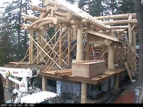 Log Post And Beam Building Youtube