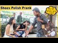 Shoes Polish Prank On Cute Girls | Funky Joker