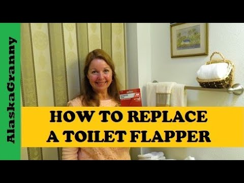 how to replace toilet flapper install new actuator disc youtube. Black Bedroom Furniture Sets. Home Design Ideas