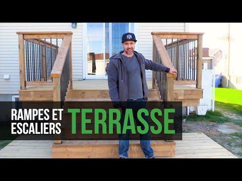 Construire un escalier et installer les rampes d'un patio (4/4)