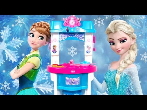 Play Doh Disney Frozen Kitchen Toy MySize Anna  MySize Elsa Dolls Cozinha Kche Cucina