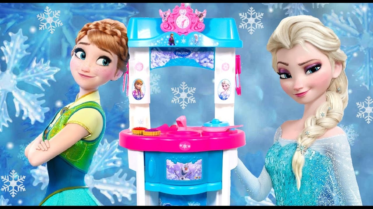 Küche Smoby Giant Frozen Kitchen Toy Smoby Cutting Frozen Food Toys 겨울왕국부엌 Cuisine Küche кухня Cocinita Funtoys