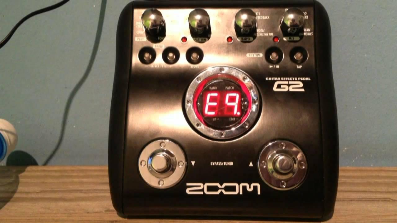 zoom g2 guitar pedal ac dc tone settings patch setup youtube. Black Bedroom Furniture Sets. Home Design Ideas