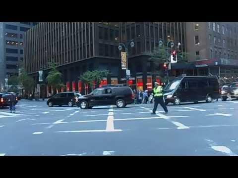 UN Secretary-General Ban Ki-moon 14 Vehicles Security Convoy