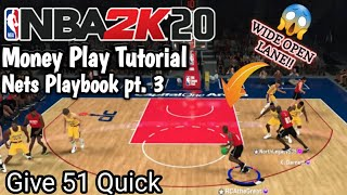 NBA 2k20 Tutorial: How to get easy dunks and open shots - Nets Money play (Give 51 quick)