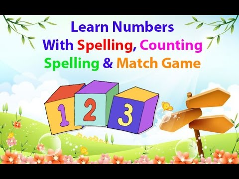 spelling counting game learn numbers 1 to 20 with spelling counting and match 2980