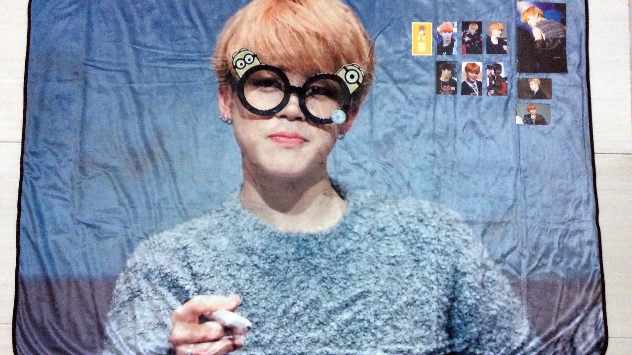 [Unboxing] Photo Blanket by 꿀물 @honeywater_jm (BTS Jimin Fansite Goods)