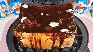 Chocolate Honey bread VS Waffle Iron 와플기계로 허니브레드 누르기 #Shorts