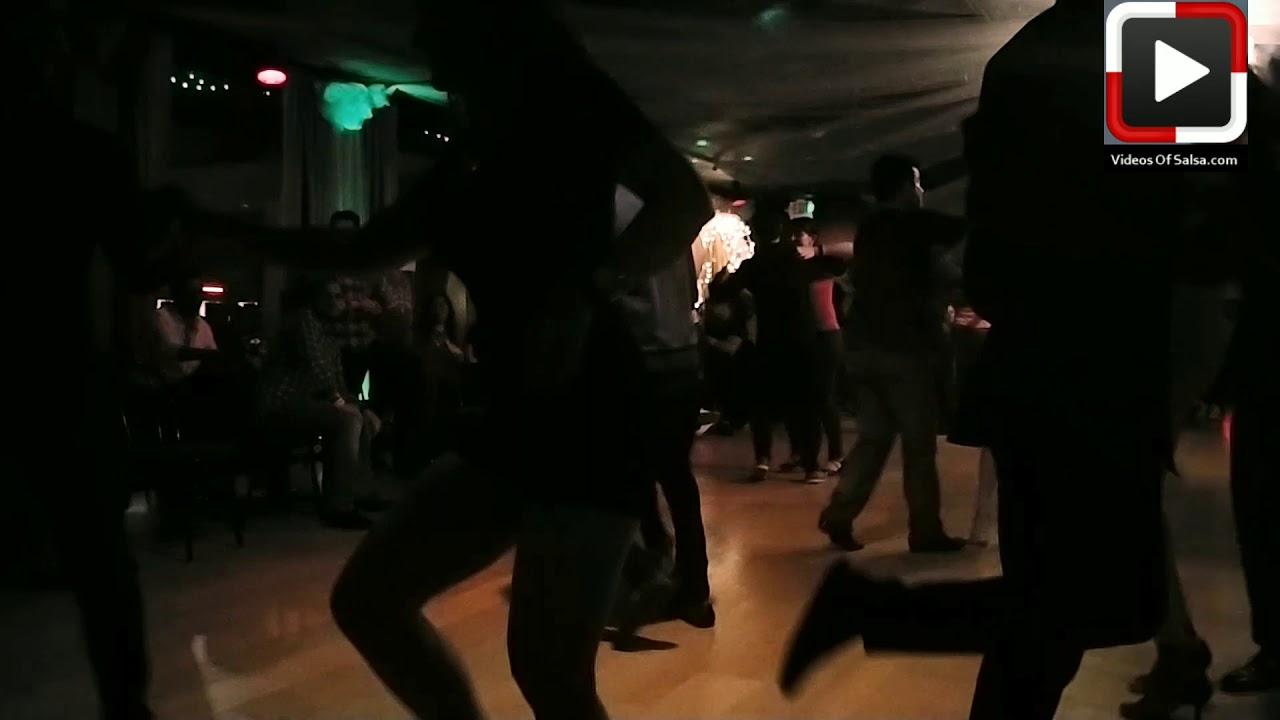 Ailinh y Suresh social dancing at Salsa Dura Houston