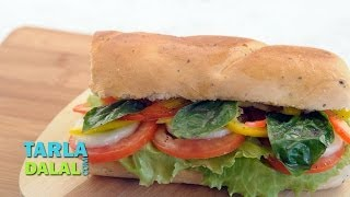 Honey Mustard And Vegetable Sandwich By Tarla Dalal