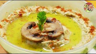 Паштет (хумус) из белой фасоли с шампиньонами. Просто, вкусно, недорого.