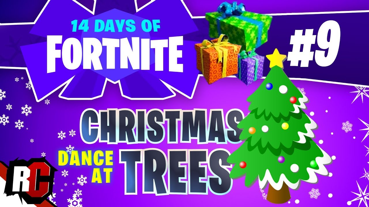 14 Days Of Fortnite Day 9 Dance At Christmas Trees All 14 Christmas