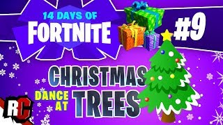 14 Days of Fortnite DAY 9 Dance at Christmas Trees (All 14 Christmas Tree Locations)