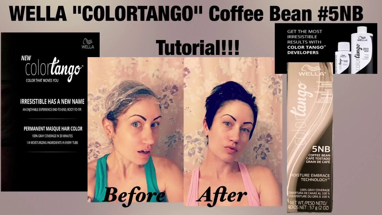 Wella Colortango Coffee Bean 5nb Hair Color Tutorial Pixie Cut