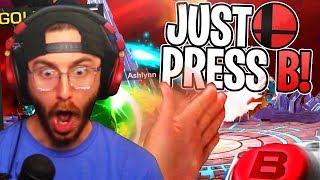 JUST PRESS B!! - Super Smash Bros. Ultimate Gameplay