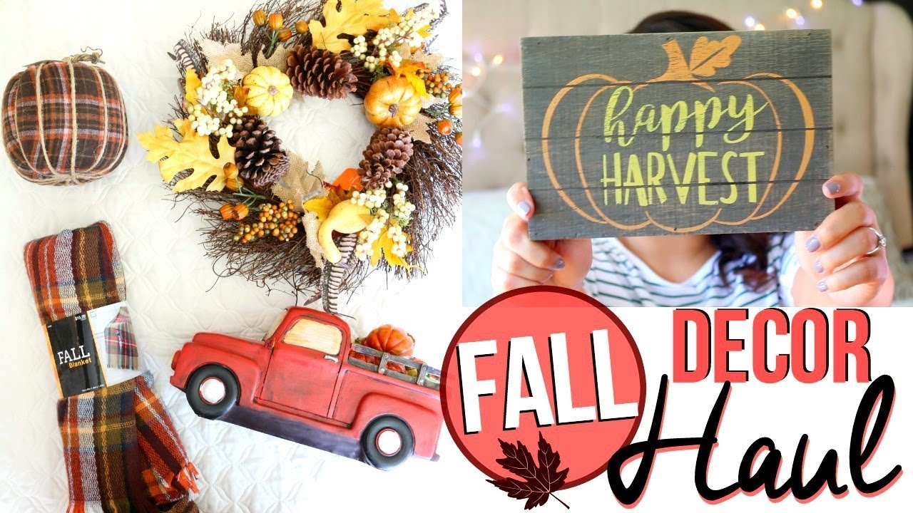 Fall Home Decor Haul 2017 Fall Decor Haul From Hobby