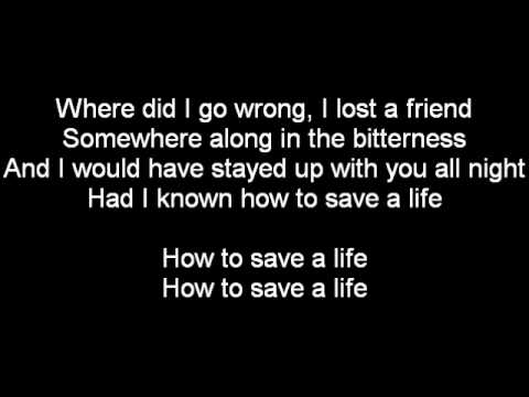 The Fray - How to Save a Life [Lyrics on Screen]