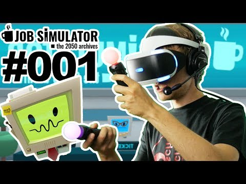 DER HÄRTESTE JOB DER WELT MIT PLAYSTATION VR 🐲 Let's Play Job Simulator VR #001 [Facecam/Deutsch]
