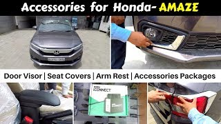 Accessories for Honda Amaze with Prices | Hindi | Ujjwal Saxena