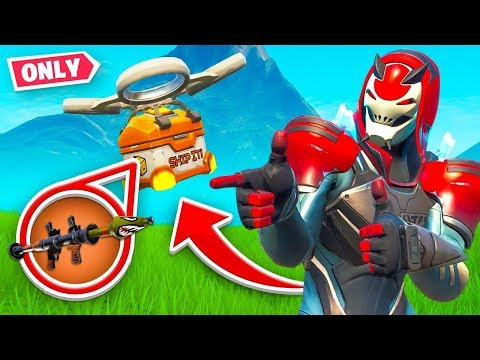 DRONE LOOT *ONLY* Challenge in Fortnite!