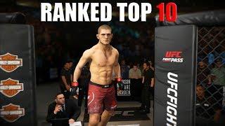 БОИ С ЛУЧШИМИ В МИРЕ RANKED TOP 10 UFC 3 thumbnail