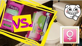 BEST FEMININE HYGIENE WIPES Playtex VS Equate! No Filter Product Review!
