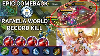 EPIC COMEBACK | RAFAELA HIGHEST KILL | BEST TROLL EVER | MOBILE LEGENDS