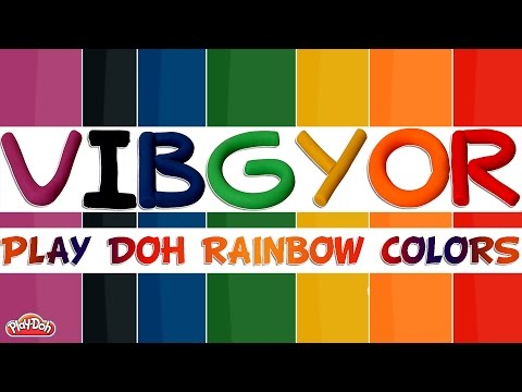 Learn Colors of the Rainbow with Play Doh | Rainbow Colors | Vibgyor Colors | Learn Rainbow Colors