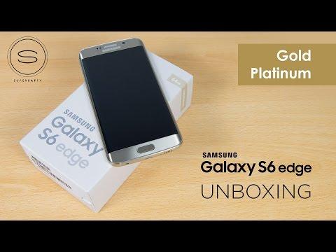 Samsung Galaxy S6 Edge Gold Platinum Unboxing | SuperSaf TV