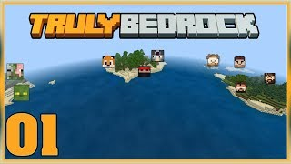 Truly Bedrock S0 Ep1 : Spawn Island Anarchy!  [Minecraft, MCPE, Bedrock Edition,Windows 10]