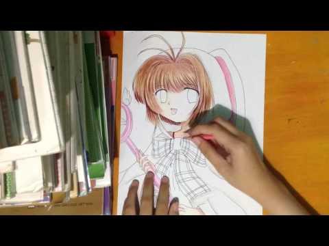 Speed Drawing : Kinomoto Sakura ( CardCaptor Sakura )/Tranh Vẽ Anime : Kinomoto Sakura