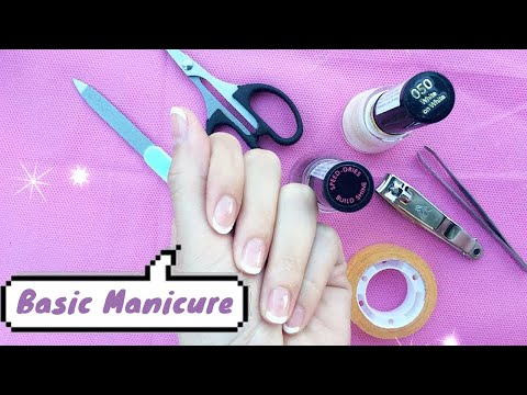 Tutorial Basic Manicure Simple at Home - YouTube